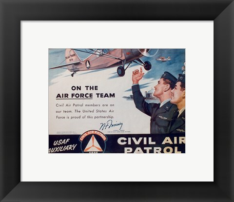 Framed CAP On the Air Force Team Poster Print