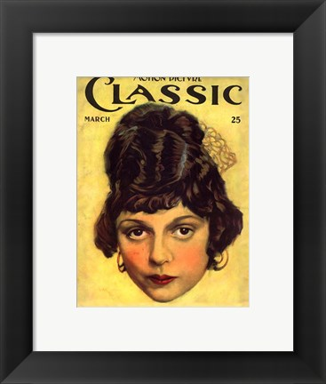 Framed Clarine Seymour Motion Picture Classic Print