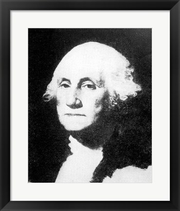 Framed Collier's 1921 Washington George - Gilbert Stuart Print