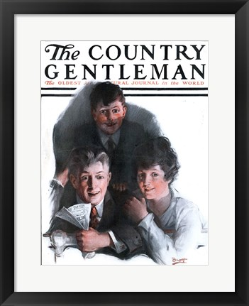 Framed Country Gentleman Magazine, April 20, 1918 Print