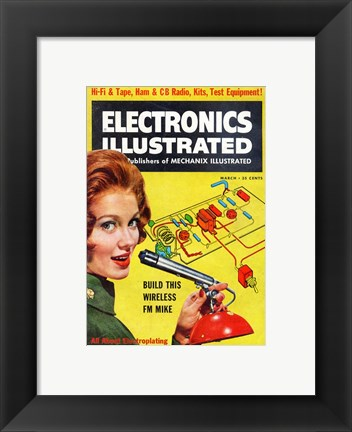 Framed Electronics Illustrated March, 1961 Print