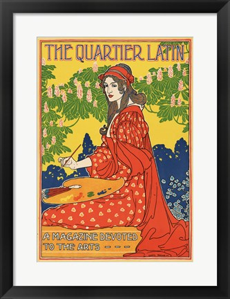 Framed Quartier Latin, a Magazine Devoted to the Arts, Advertising Poster, ca.1895 Print