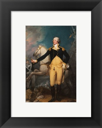 Framed General George Washington at Trenton by John Trumbull Print