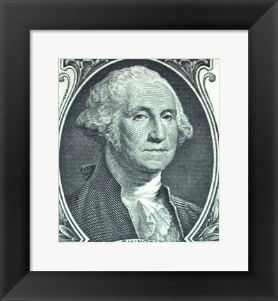Framed George Washington Dollar Print
