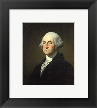 Framed Gilbert Stuart Williamstown Portrait of George Washington Print
