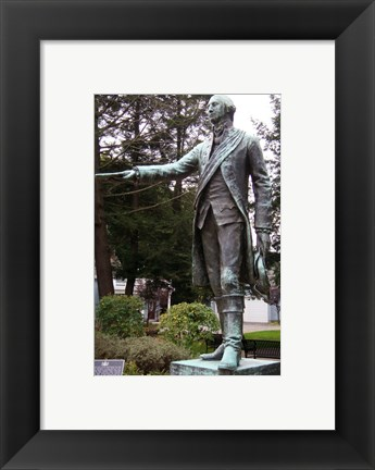 Framed George Washington Statue, Waterford Print