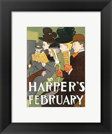 Framed Harper's February 1895 Print