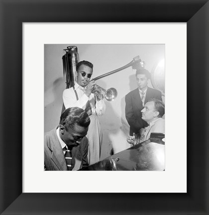 Framed Howard McGhee, Brick Fleagle and Miles Davis, September 1947 Print