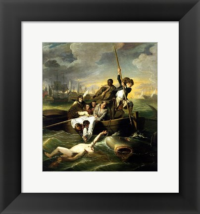 Framed J.S. Copley - Watson and the Shark Print