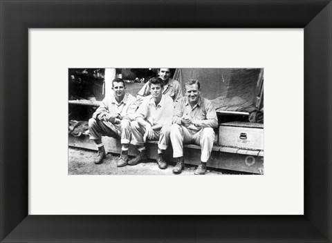 Framed JFK and PC 96 Fellow Officers Print
