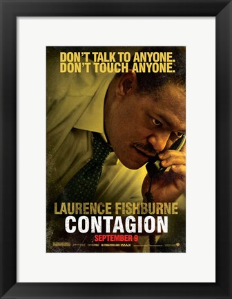 Framed Contagion - Laurence Fishburne Print