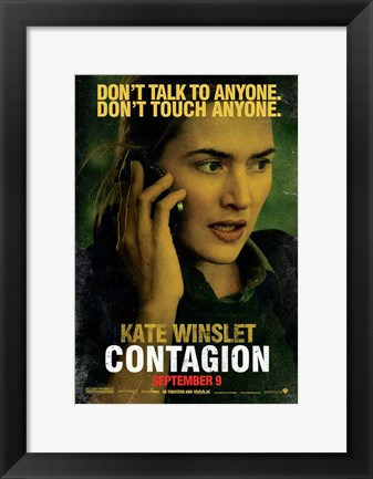 Framed Contagion - Kate Winslet Print