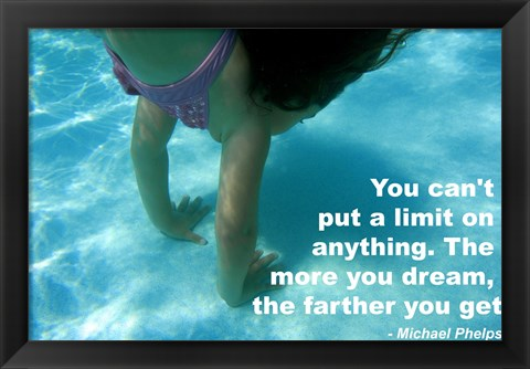 Framed No Limits - Swimming Quote Print