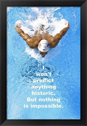 Framed Historic Swimming Quote Print
