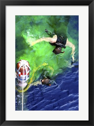 Framed US Navy Search and Rescue Swimmers Print
