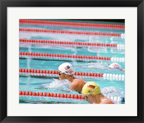 Framed US Swimmer Susan Rapp Print
