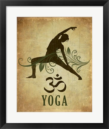 Framed Yoga pose Print