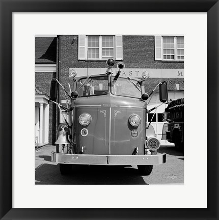 Framed USA, New York, East Meadow, Fire engine Print