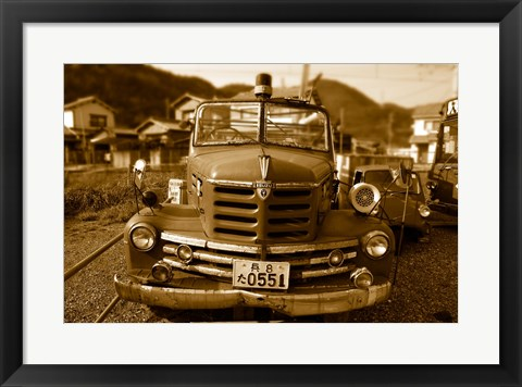 Framed Isuzu Fire Engine Print