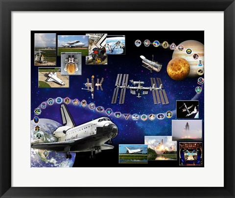 Framed Space Shuttle Atlantis Tribute Print