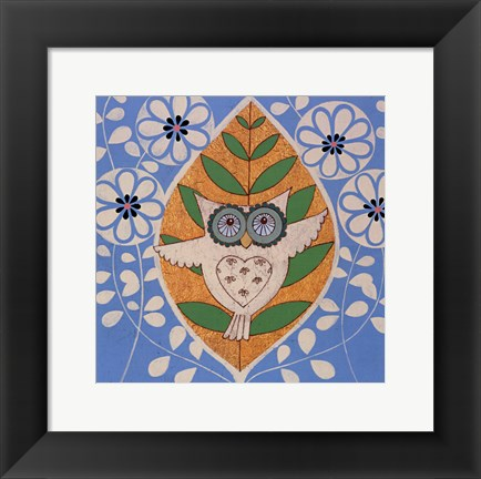 Framed Summer Owl Print