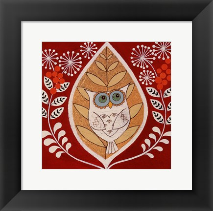 Framed Autumn Owl Print