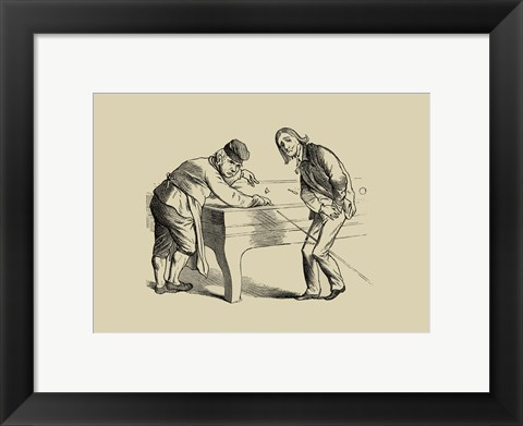 Framed Pool Hall Antifcs II Print