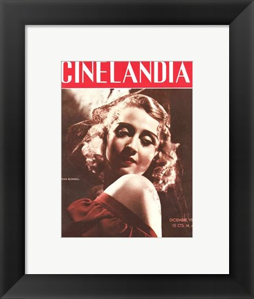 Framed Joan Blondell CINELANDIA Magazine Print