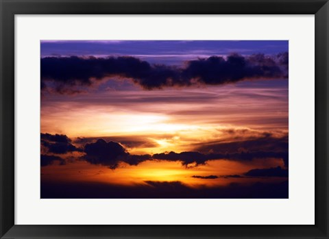 Framed Kihei Sunset Print