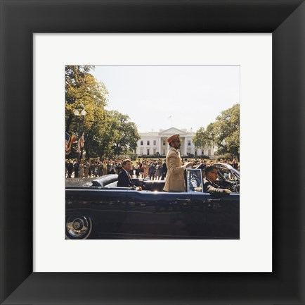 Framed Parade, Union Station to Blair House, President Kennedy Print
