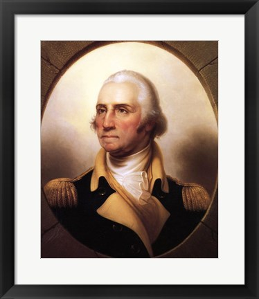 Framed Portrait of George Washington Print