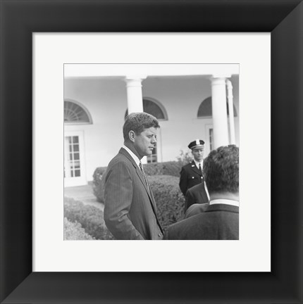 Framed President KennedyGreets Latin American Archivists Print