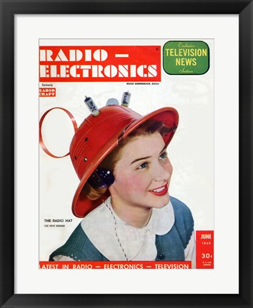 Framed Radio Electronics Cover June 1949 Print