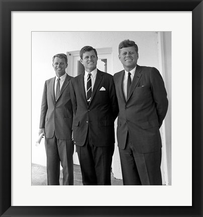 Framed Robert Ted John Kennedy Print