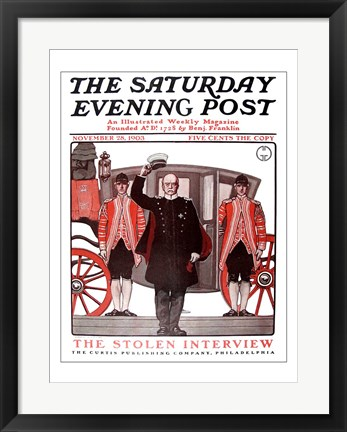 Framed Saturday evening post 1903 Print
