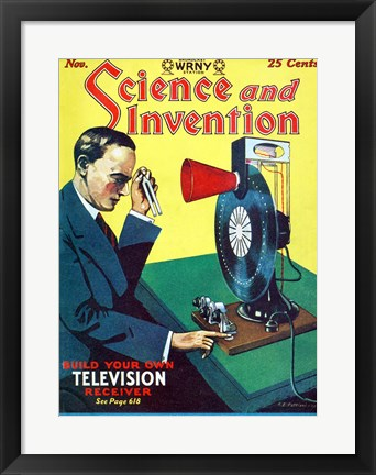 Framed Science and Invention Nov 1928 Cover Print