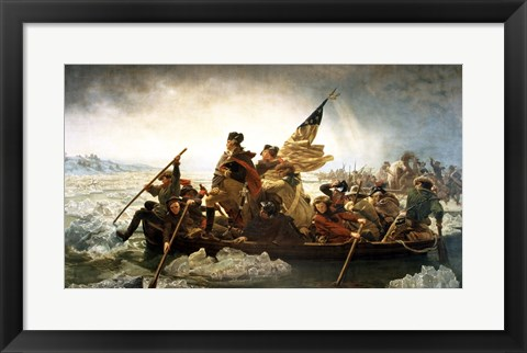 Framed Washington Crossing the Delaware by Emanuel Leutze Print
