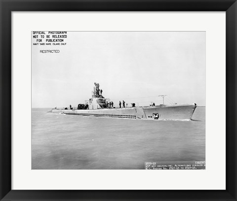 Framed USS Whale Early US  Submarine Print