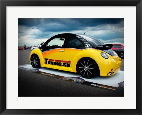 Framed VW New Beetle Tuning 2 Print