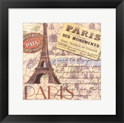 Framed Travel Scrapbook IV Print