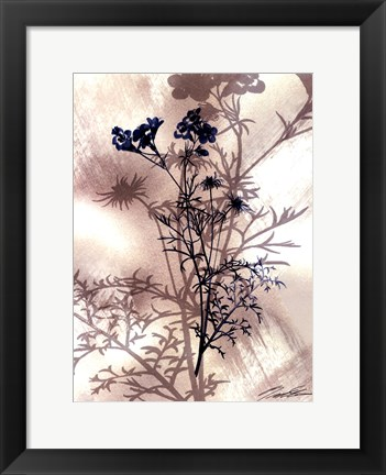 Framed Indigo Bloom I Print