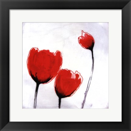 Framed Red Drops VII Print