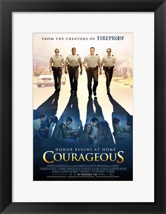 Framed Courageous Print