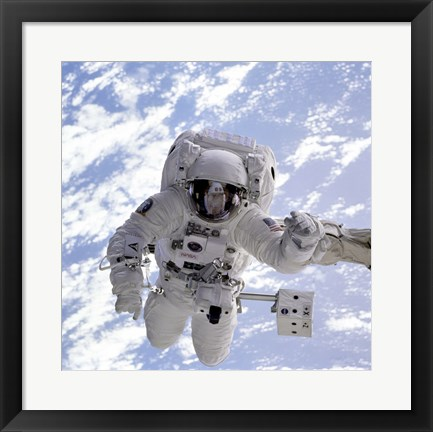 Framed Michael Gernhardt in Space During STS-69 in 1995 Print