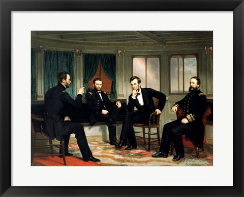Framed Peacemakers 1868 Print
