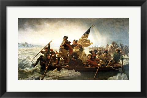 Framed Washington Crossing the Delaware by Emanuel Leutze, MMA-NYC, 1851 Print