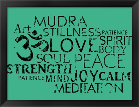Framed Yoga Words Print