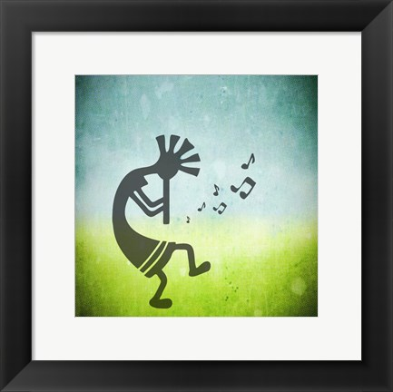 Framed Kokopelli Music II Print