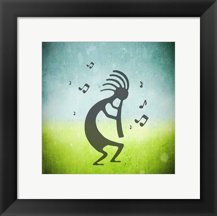 Framed Kokopelli Music III Print