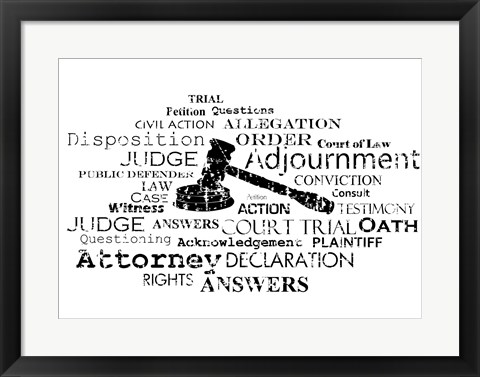 Framed Law Words Print